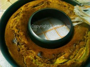 gâteau aux pommes IG bas - sortie du four